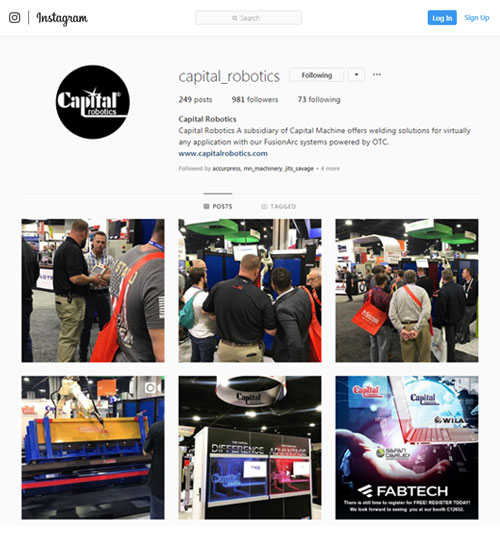 Capital Robotics Instagram Signup