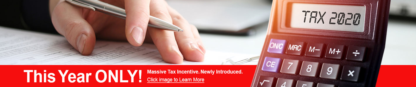 2020 Tax Incentive homepage banner